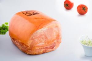 Gekookte ham gemaakt met Duroc d'Olives vlees